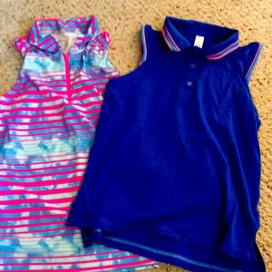 Girls sleeveless polo shirts